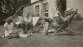Dora Carrington; Saxon Arnold Sydney-Turner; Ralph Partridge; Lytton Strachey, by Frances Partridge - NPG x13137