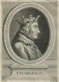Charles V, King of France, by Frederick Bromley, after  Marie Louis Adélaide Boizot - NPG D24775