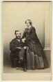 Sir Monier Monier-Williams; Julia Grantham (née Faithfull), Lady Monier-Williams, by Thomas Edge - NPG x29295