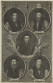 5 Bishops including Nicholas Ridley, Hugh Latimer, Thomas Cranmer, John Hooper and Robert Farrar, possibly by Thomas Bowles Sr, or by  Thomas Bowles Jr - NPG D24926