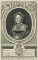 Katherine of Aragon, by Robert White, printed for  Richard Chiswell, after  Unknown artist - NPG D24935