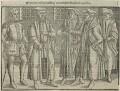 John Bradford and four unknown Bishops, by Unknown artist - NPG D24956