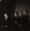 John Piper; Sir Frederick Ashton; Benjamin Britten and Eric John Crozier, by Edward Mandinian - NPG x15211