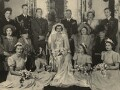 Wedding of John Ulick Knatchbull, 7th Baron Brabourne and Patricia Edwina Victoria Knatchbull, by Madame Yevonde - NPG x34013