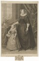 Unknown child called King James I of England and VI of Scotland and an unknown woman called Mary, Queen of Scots, by Francesco Bartolozzi, after  Unknown artist - NPG D31817