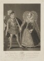Henry Stuart, Lord Darnley; Mary, Queen of Scots, by Robert Dunkarton, published by  Samuel Woodburn, after  Renold or Reginold Elstrack (Elstracke) - NPG D31822