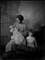 Lady Freda Valentine with her sons, by Bassano Ltd - NPG x151842