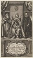 Queen Elizabeth I; Sir Francis Walsingham; William Cecil, 1st Baron Burghley, by William Faithorne - NPG D31830