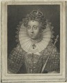 Queen Elizabeth I, by James Hopwood Sr, after  Edward Lutterell (Luttrell) - NPG D25017