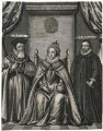 Queen Elizabeth I, William Cecil, 1st Baron Burghley, Sir Francis Walsingham, after Unknown artist - NPG D25033