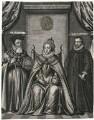 Queen Elizabeth I, William Cecil, 1st Baron Burghley, Sir Francis Walsingham, after Unknown artist - NPG D25033