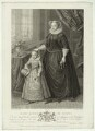 Unknown child called King James I of England and VI of Scotland and an unknown woman called Mary, Queen of Scots, by Francesco Bartolozzi, after  Spiridione Roma, after  Unknown artist - NPG D25048