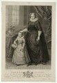 Unknown child called King James I of England and VI of Scotland and an unknown woman called Mary, Queen of Scots, by Francesco Bartolozzi, after  Spiridione Roma, after  Unknown artist - NPG D25049