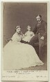 Queen Alexandra; Prince Albert Victor, Duke of Clarence and Avondale; King Edward VII, by Hills & Saunders - NPG x18897