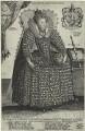 Queen Elizabeth I, by Crispijn de Passe the Elder, after  Isaac Oliver - NPG D25180