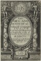 Title page to 'The Life and Death of Mr. Edmund Geninges', by M. Bas - NPG D25336