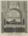 Monument to Edmund Plowden in the Temple Church, published by Nathaniel Smith - NPG D25380