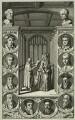 Roger Ascham and Princess (afterwards Queen) Elizabeth, by Michael Burghers - NPG D25554