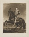 King James I of England and VI of Scotland, by Charles Turner, published by  Samuel Woodburn, after  Francis Delaram - NPG D31895