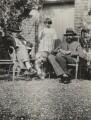 Raymond Mortimer; Angelica Vanessa Garnett (née Bell); the dog Henry; Lytton Strachey, by Vanessa Bell (née Stephen) - NPG x13898