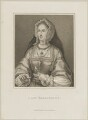 Unknown woman, engraved as Joan (née Fitzalan), Lady Bergavenny, by Innocenzo Geremia, published by  John Scott - NPG D25593