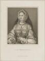 Unknown woman, engraved as Joan (née Fitzalan), Lady Bergavenny, by Innocenzo Geremia, published by  John Scott - NPG D25593