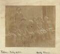 'Marjorie's school at Charleston' (group including Marjorie Strachey; Angelica Vanessa Garnett (née Bell)), by Unknown photographer - NPG x129606