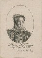 Queen Mary I, probably by William Faithorne, sold by  Sir Robert Peake - NPG D31947