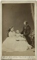 The Duke and Duchess of Hesse and by Rhine with their eldest daughter, by Hills & Saunders, published by  A. Marion, Son & Co - NPG x35076
