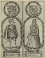 King James I of England and VI of Scotland and Anne of Denmark, by Renold or Reginold Elstrack (Elstracke) - NPG D25686