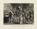 'James I and his royal progeny', by Charles Turner, published by  Samuel Woodburn, after  Willem de Passe - NPG D25692
