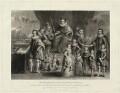 'James I and his royal progeny', by Charles Turner, published by  Samuel Woodburn, after  Willem de Passe - NPG D25692