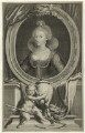 Anne of Denmark, by Jacobus Houbraken, after  Cornelius Johnson - NPG D25719