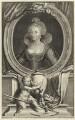 Anne of Denmark, by Jacobus Houbraken, after  Cornelius Johnson (Cornelius Janssen van Ceulen) - NPG D25720