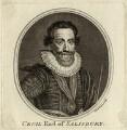 Robert Cecil, 1st Earl of Salisbury, by Thomas Chambers (Chambars) - NPG D25764