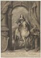 King Charles I; Pierre Antoine Bourdon, Seigneur de St Antoine, by Bernard Baron, after  Sir Anthony van Dyck - NPG D31973