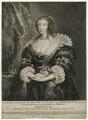Henrietta Maria, by Pieter de Jode II, published by  M. Antonius, after  Sir Anthony van Dyck - NPG D32073