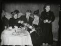 Marcel Ciampi, Hephzibah Menuhin, Yehudi Menuhin, Marutha Menuhin (née Sher) and Yaltah Menuhin, by Edward George W. Malindine, for  Daily Herald - NPG x131123