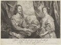King Charles I; Henrietta Maria, by Robert van Voerst, after  Sir Anthony van Dyck - NPG D32047