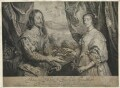 King Charles I; Henrietta Maria, by Robert van Voerst, after  Sir Anthony van Dyck - NPG D32048