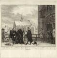 The execution of Sir John van Olden Barnavelt (Johan van Oldenbarnevelt), by Simon Fokke - NPG D26247