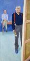 David Hockney ('Self-Portrait with Charlie'), by David Hockney - NPG 6819