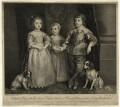 The Three Eldest Children of King Charles I; King Charles II, Mary, Princess of Orange and King James II, by Sir Robert Strange, after  Sir Anthony van Dyck - NPG D26447