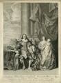King Charles I, Henrietta Maria, King Charles II; Mary, Princess Royal and Princess of Orange, by Bernard Baron, after  Sir Anthony van Dyck - NPG D26449