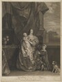 Queen Henrietta Maria and her two eldest children (Henrietta Maria; Mary, Princess Royal and Princess of Orange; King Charles II), by Sir Robert Strange, after  Sir Anthony van Dyck - NPG D32114