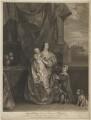 Queen Henrietta Maria and her two eldest children (Henrietta Maria; Mary, Princess of Orange; King Charles II), by Sir Robert Strange, after  Sir Anthony van Dyck - NPG D32114