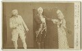 William Farren as Sir Peter Teazle; John Clayton as Joseph Surface; Amy Fawsitt as Lady Teazle in 'The School for Scandal', by Elliott & Fry - NPG x4335