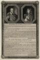 Robert Pierrepont (Pierrepoint), 1st Earl of Kingston-upon-Hull; Lord Bernard Stuart, by George Vertue, after  Sir Anthony van Dyck - NPG D26609