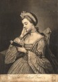 The Studious Fair (possibly Sophia Charlotte of Mecklenburg-Strelitz), by Charles Spooner, after  Mary Benwell (Mrs Code) - NPG D9113