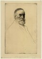 George Frederic Watts, by Alphonse Legros - NPG D32232